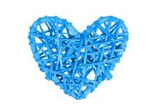 Mały serce odizolowywający - błękit Fotografia Stock