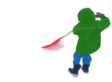 mały shoveller Obraz Royalty Free