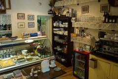 Mały sklepowy wnętrze w Connemara Fotografia Stock