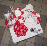 Mały stół dla ślubnej ceremonii Obrazy Royalty Free