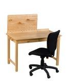 Mały stołowy uczeń robić pracie domowej lub ministerstwu spraw wewnętrznych Obraz Royalty Free