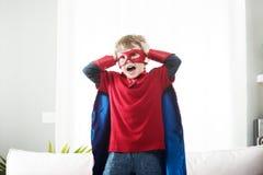 Mały super bohater obraz royalty free