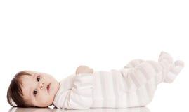 Mały szczęśliwy dziecko, isolatrd na bielu Obraz Stock