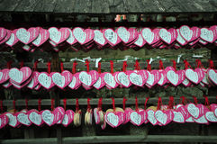 Mały talerz, ono modli się o miłości, Japonia Zdjęcie Stock