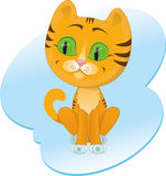Mały tygrys na błękitnym tle Zdjęcie Stock