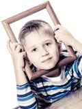 Mały uśmiechnięty chłopiec dziecka portret Zdjęcie Royalty Free