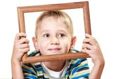 Mały uśmiechnięty chłopiec dziecka portret Obrazy Stock