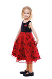 Mały uśmiechnięty dziewczyna portret Obraz Royalty Free