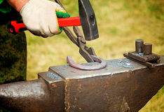 Mały warsztat dla dokonanego żelaza rękodzieeł. Zdjęcie Royalty Free
