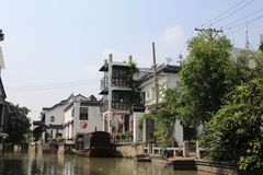 Mały Wenecja w Chiny zdjęcie royalty free