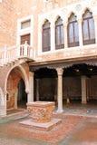 Mały Wenecki podwórze w Wenecja Włochy zdjęcie royalty free