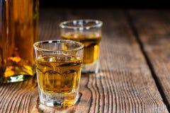 Mały whisky strzał Zdjęcia Royalty Free