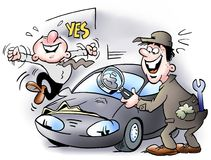 Mały wklęśnięcie w samochodzie ilustracja wektor