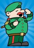 mały wojsko sierżant ilustracja wektor