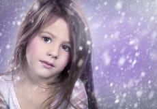 Mały zima śniegu princess obraz stock