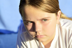 Małych dziewczynek emocje Obrazy Royalty Free