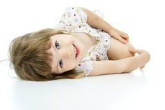 Małych dziewczynek kłamstwa Obraz Royalty Free