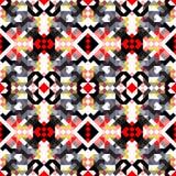 Małych jaskrawych barwionych wieloboków bezszwowy geometryczny tło ilustracji