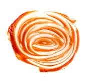 Mażąca kałuża pomidorowy opatrunkowy tekstury lub ketchupu punkt zdjęcia royalty free