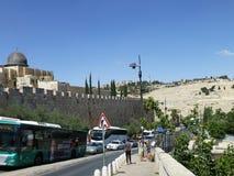 MA'Ale HaShalom-Straße in Jerusalem stockbilder