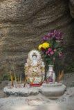 ma在澳门澳门瓷的女神中国寺庙 免版税库存图片