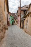 Mała aleja w Sibiu Rumunia Fotografia Stock