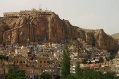Ma'alula,一个老城市在叙利亚,人们讲新的阿拉姆语 库存照片