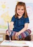 mała artysta dziewczyna zdjęcie stock