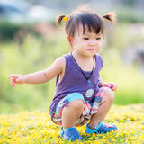 Mała azjatykcia dziewczyna Obraz Royalty Free