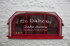 Ma Bakers window. Ma Bakers shop window in Carlingford, Ireland stock photo