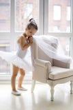 Mała baleriny dziewczyna 2 roku w studiu Fotografia Stock