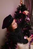 mała bauble dziewczyna Obraz Royalty Free