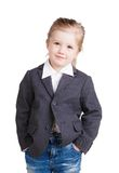 Mała biznesowa dziewczyna Obrazy Royalty Free