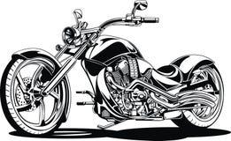 Ma conception noire et blanche de motocyclette illustration stock
