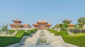 A-Ma cultural village and blue sky  in macau Stock Photography