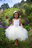 Mała czarodziejka w spódniczce baletnicy. Obraz Royalty Free