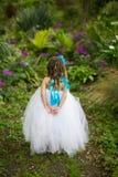 Mała czarodziejka w spódniczce baletnicy. Fotografia Royalty Free