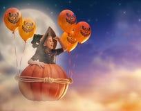 Mała czarownica outdoors Fotografia Royalty Free