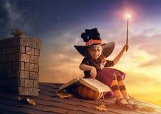 Mała czarownica outdoors Fotografia Stock