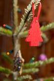 Mała Czerwona choinki dekoracja Fotografia Royalty Free
