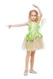 Mała dancingowa czarodziejska dziewczyna Zdjęcia Royalty Free