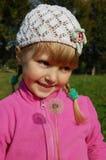 mała dandelion dziewczyna Obrazy Stock