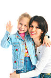 Ma and daughter stock photography