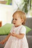 ma domowego małego berbecia zabawy dziewczyna Zdjęcie Stock