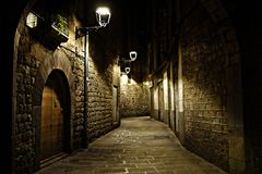Ma down the street of loneliness stock photography