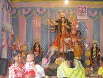 Ma durga. Durga is famous gob in hindu religion.it big festival in bangal westbengal.india Stock Photos