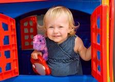mała dziewczyna w domu s Zdjęcia Stock