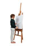 Mała dziewczynka artysty rysunek Zdjęcie Royalty Free