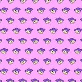 Mała dziewczynka - emoji wzór 23 ilustracja wektor