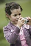 mała dziewczynka fotograf Zdjęcie Royalty Free